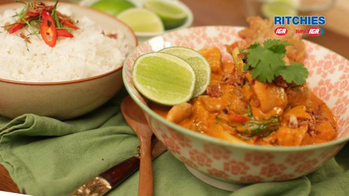 Thai Red Curry Chicken with Coconut Rice