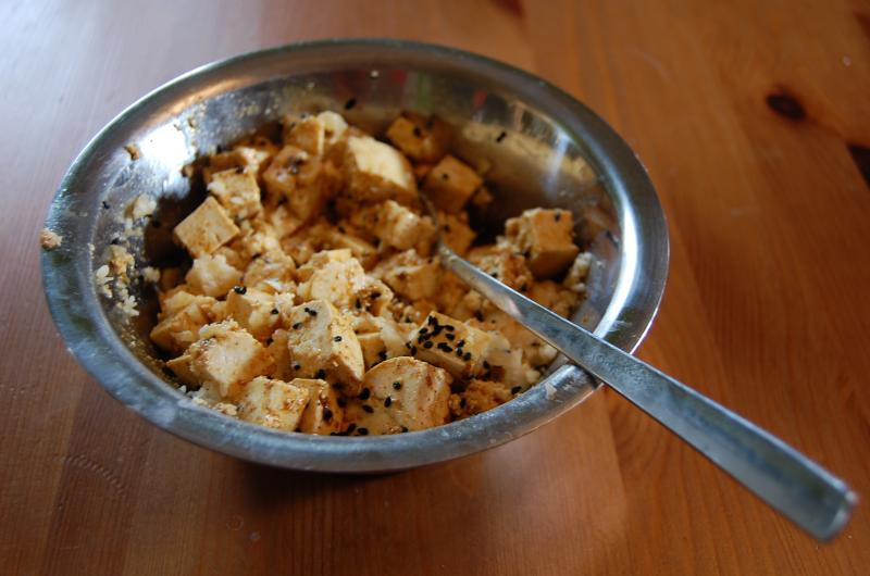 Thai Pumpkin Soup with Crispy Tofu
