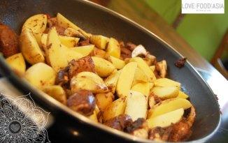 Potatoes Beans Mushroom Curry