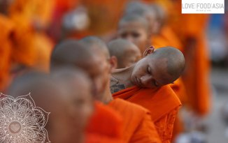A monk at Wat Phra Dhammakaya temple