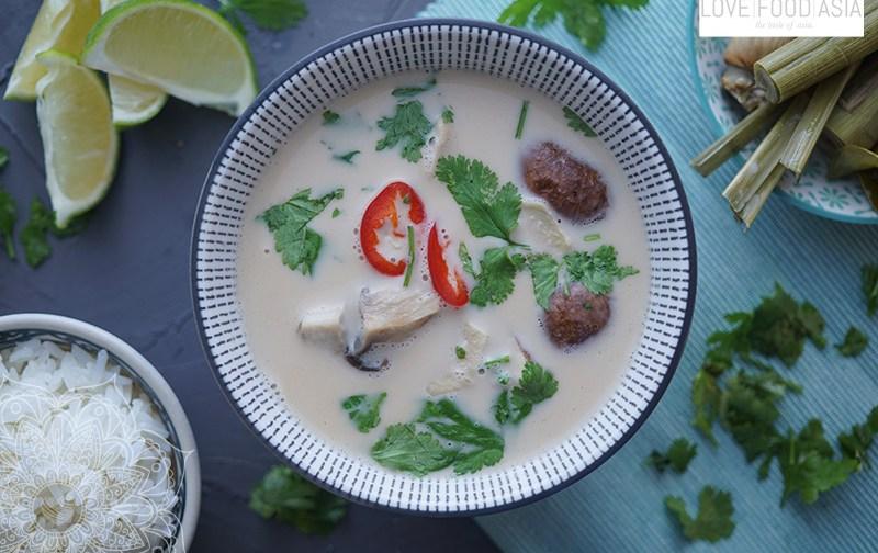Kokos-Hühnersuppe (Tom Kha Gai)