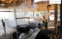 Zuckerstrip Herstellung am Inle See