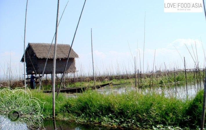 Stelzenhaus auf dem Inge See