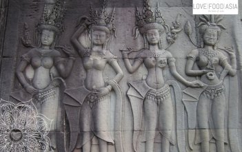 Aufwändige Ornamente bei Angkor Wat