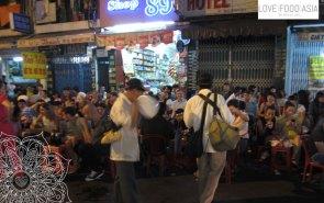 Die Straßen sind voll in Saigon