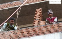 Two bricklayer in Kathmandu