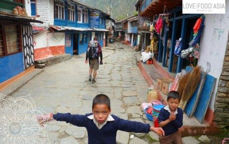 Ein einfaches Dorf in Nepal