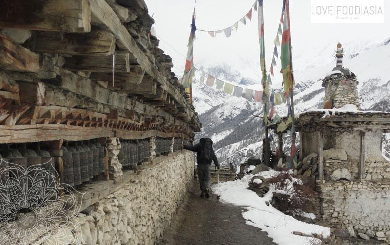 Gebetsmühlen bei Pisang