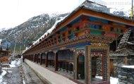 Gebetsmühlen in Pisang