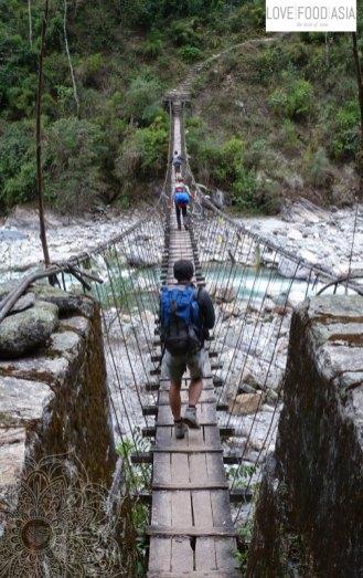 Und noch eine Hängebrücke