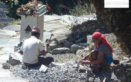Hard work in Nepal
