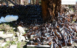 Bottle recycling in Nepal
