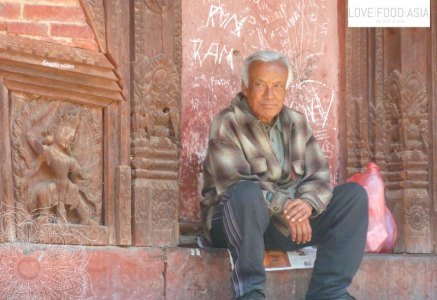 Alter Mann in Kathmandu