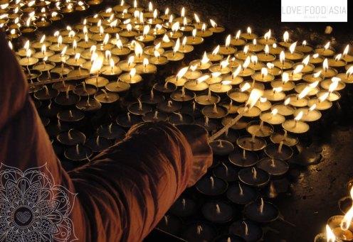 Candles in Kathmandu