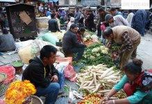 A small market in Kathmandu