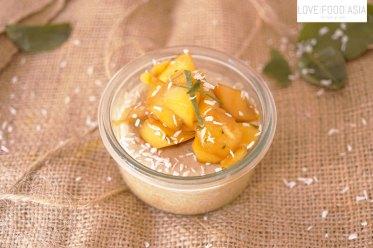 Thai Coconut Custard with Mango