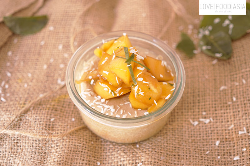Thai Coconut Custard with Mango