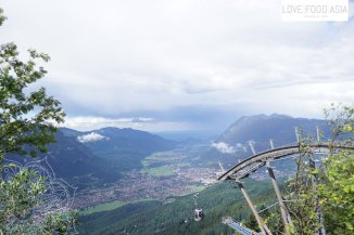 Blick auf Garmisch vom Kreuzeckhaus