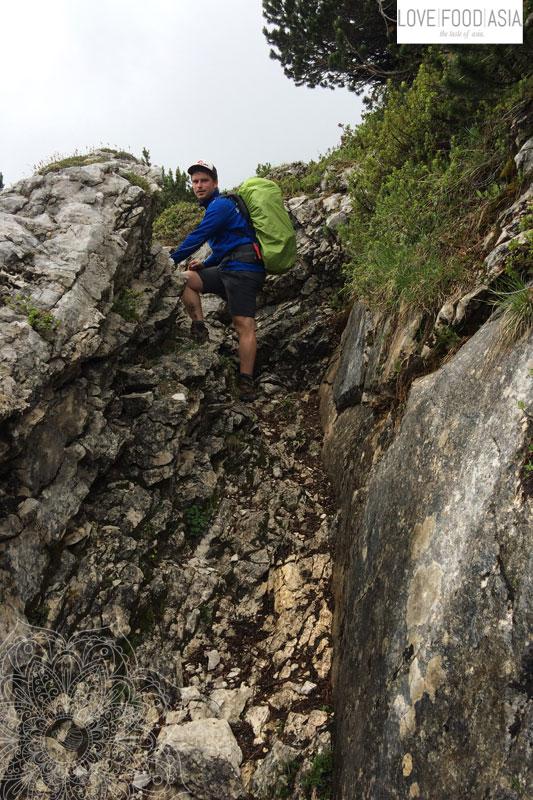 Kurze Kletterei