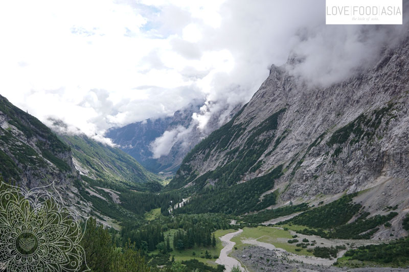 View back in the valley
