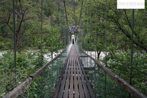 Suspension bridge in Stams