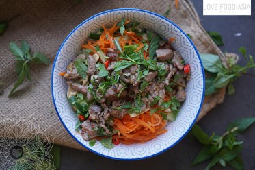 Rice noodle salad with lemongrass beef