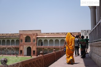 Indian women in the Agra Red Fort
