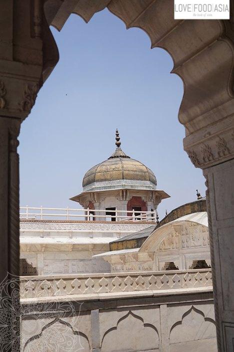 Turm im Roten Fort von Agra