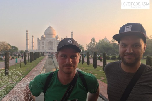 Matthias & Martin am Taj Mahal