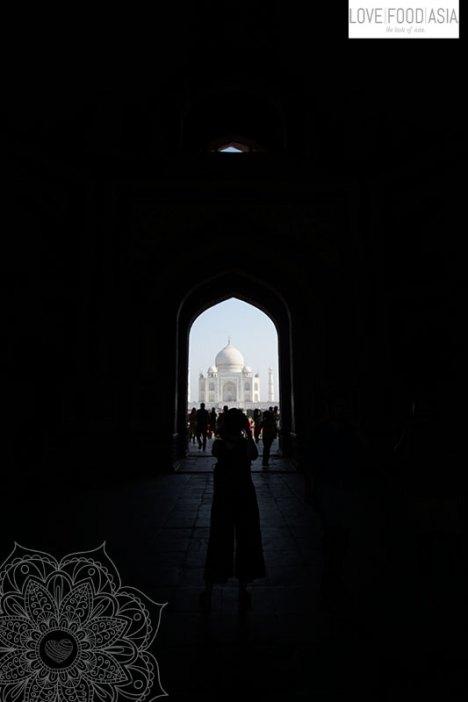 Tunnelblick auf das Taj Mahal