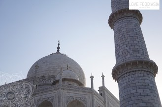 Detailed view at Taj Mahal