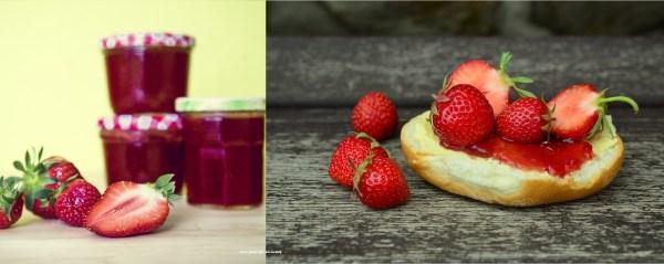 strawberries-bagel
