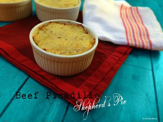 Beef Picadillo Shepherd's Pie