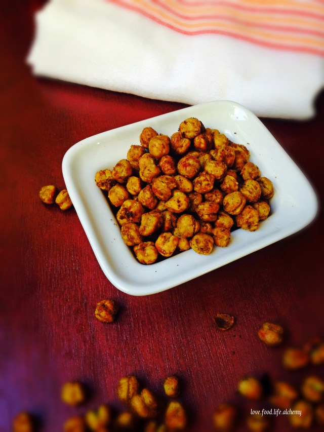 roasted curry chickpea