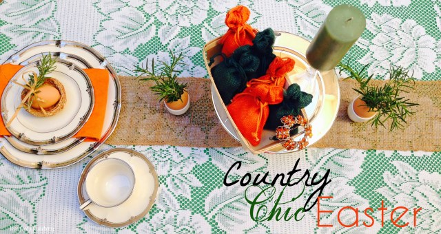 Country Chic Easter Table