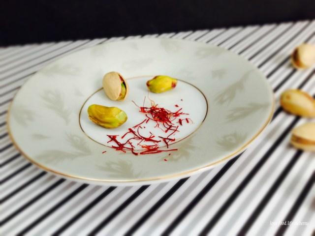 saffron and pistachios