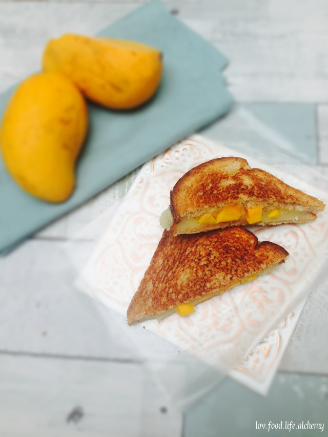 mango and cheese grilled sandwich