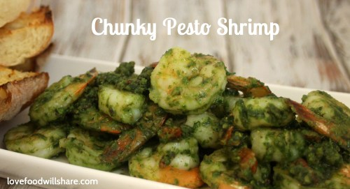 I love how the pesto clings to the shrimp.