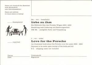 b/w Liebe zu Ihm postcard