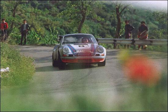 Porsche 911 RSR Herbert Muller Gijs van Lennep Targa Florio 1973