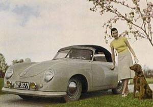 Porsche 356 Splitwindow Postcard