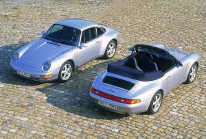Porsche 993, the last aircooled Porsche 911's