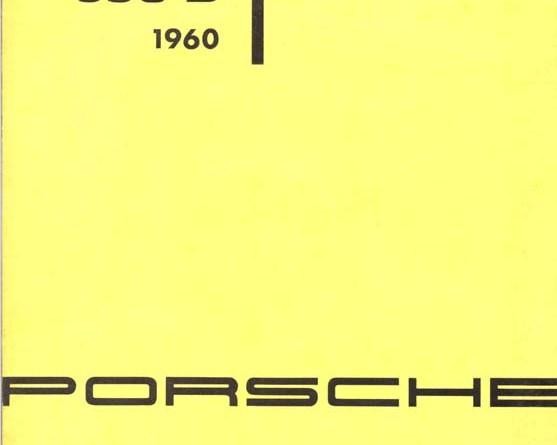 Porsche 356B Brochure with Liebe zu Ihm Logo : w36-3m-7-60gi