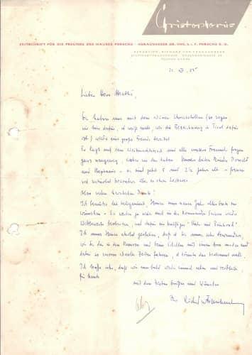 Handwritten letter of Richard von Frankenberg