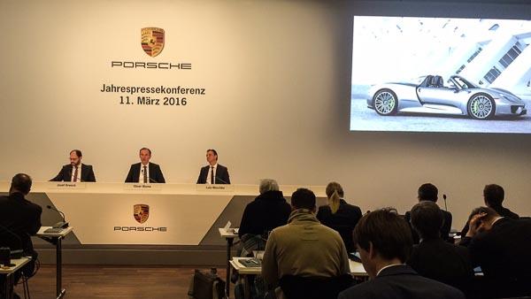 Porsche Annual press conference 2016