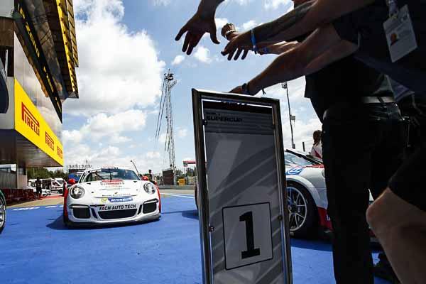Porsche Junior Matteo Cairoli wins Porsche Mobil1 Supercup in Barcelona