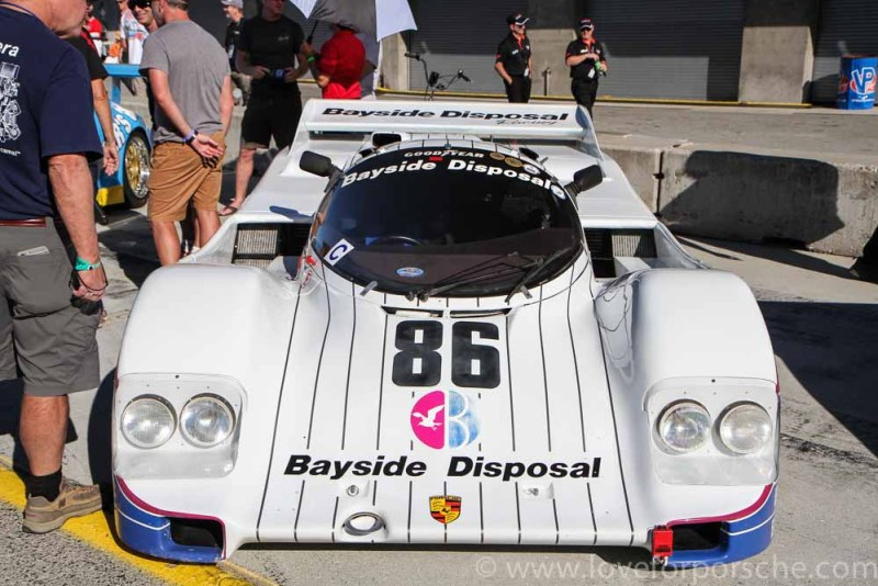 Bayside Disposal Racing Team Porsche 962 at the Porsche Rennsport Reunion V Laguna Seca Bruce Leven