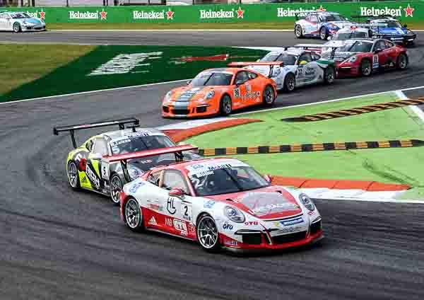 Sven Müller (D) Robert Lukas (PL) Porsche Mobil 1 Supercup Monza 2016