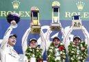 Le Mans (F) 2016: Andreas Seidl, Team Principal Porsche Team, Porsche Team: Marc Lieb, Romain Dumas, Neel Jani (l-r)