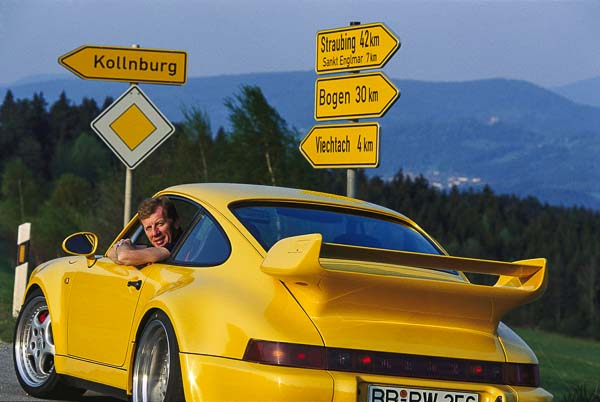 Walter Röhrl 1993 in a Porsche 911 Carrera RS 3.8.